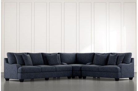 Sierra Foam III Navy Blue 3 Piece Sectional