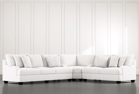 Sierra Foam III White 3 Piece Sectional