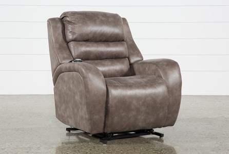 Axel Brown Power Lift Recliner W/Power Headrest