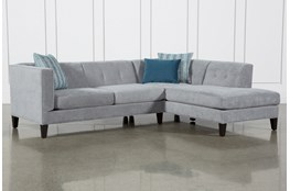 Avery II 2 Piece Sectional With Right Facing Armless Chaise