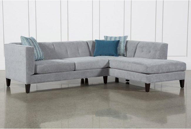 Avery II 2 Piece Sectional With Right Facing Armless Chaise - 360