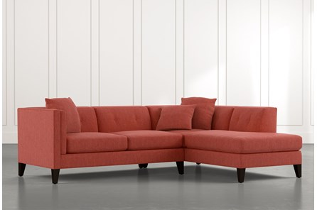 Avery II Red 2 Piece Sectional with Right Arm Facing Armless Chaise