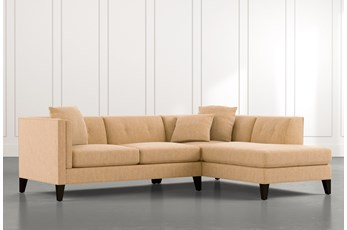 Avery II Yellow 2 Piece Sectional with Right Arm Facing Armless Chaise