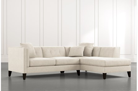 Avery II Beige 2 Piece Sectional with Right Arm Facing Armless Chaise