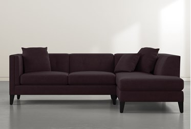 """Avery II Purple 2 Piece 103"""" Sectional With Right Facing Armless Chaise"""