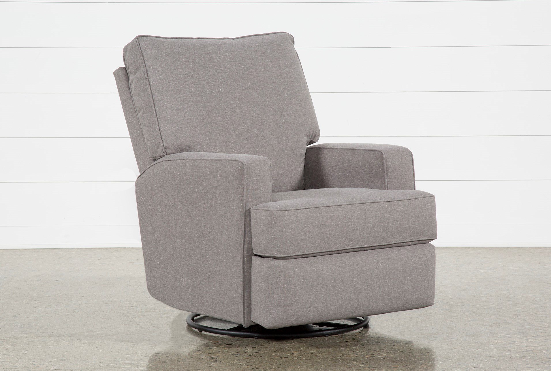Becca Swivel Glider Recliner Living Spaces