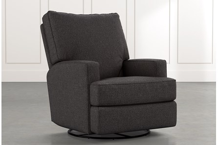Becca Black Swivel Glider Recliner
