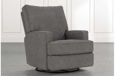 Becca Dark Grey Swivel Glider Recliner