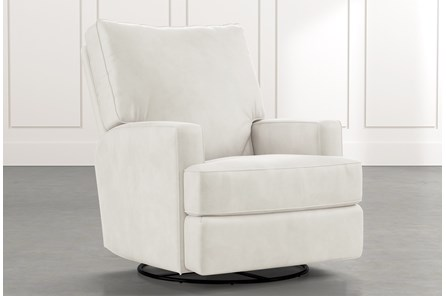Becca White Swivel Glider Recliner