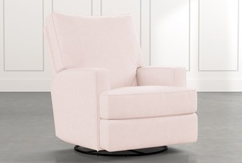 Becca Pink Swivel Glider Recliner