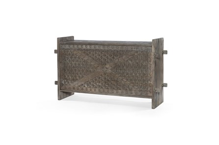 Aged Grey Trunk Console