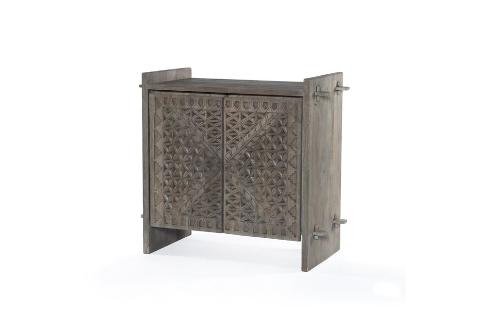 Aged Grey Small Cabinet