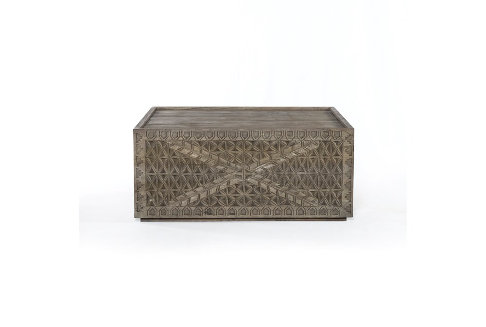 Aged Grey Square Coffee Table
