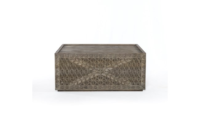 Aged Grey Square Coffee Table - 360