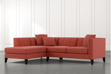Avery II Red 2 Piece Sectional with Left Arm Facing Armless Chaise