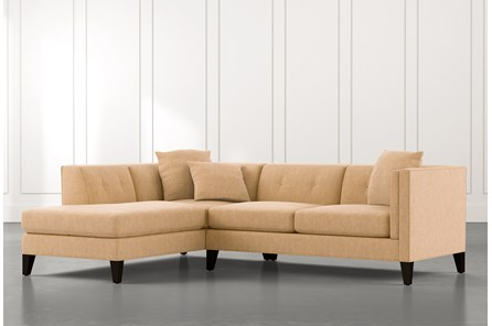 Avery II Yellow 2 Piece Sectional with Left Arm Facing Armless Chaise