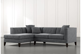 Avery II Dark Grey 2 Piece Sectional with Left Arm Facing Armless Chaise