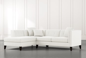 Avery II White 2 Piece Sectional with Left Arm Facing Armless Chaise
