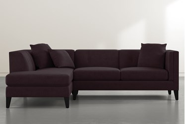 """Avery II Purple 2 Piece 103"""" Sectional With Left Facing Armless Chaise"""