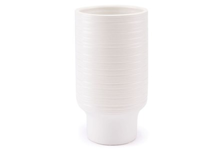 13 Inch Tall Whie Vase