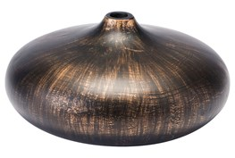 Large Round Brown Brushed Vase