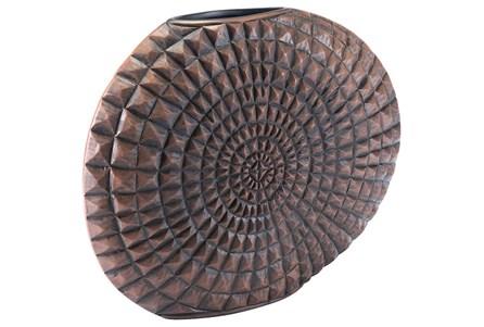 Large Mocha Pyramid Studded Vase