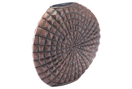 Small Mocha Pyramid Studded Vase