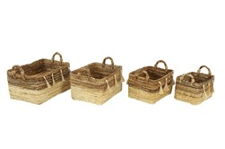 Set Of 4 Banana Leag Basket