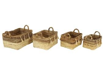 Set Of 4 Banana Leag Basket
