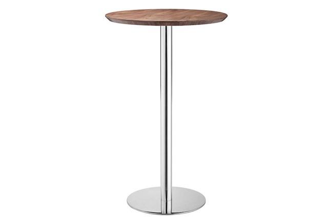 Round Walnut + Silver Bar  - 360