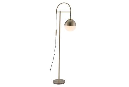 Floor Lamp-White + Brushed Brass