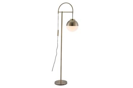 Floor Lamp-White + Brushed Brass - Main