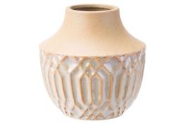 Short Two Tone Neutral Vase