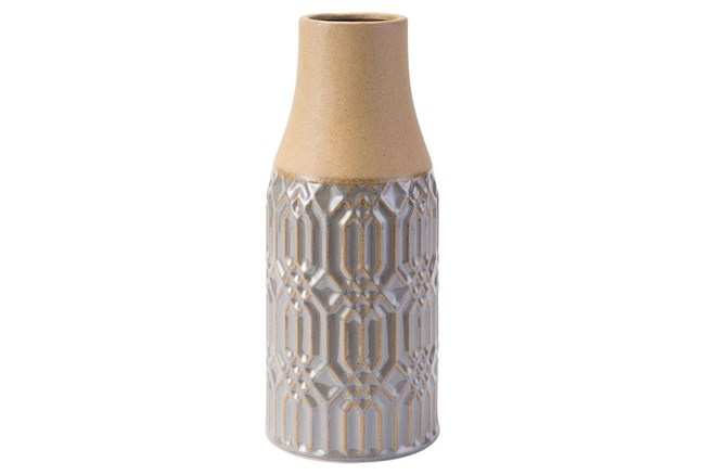Tall Two Tone Grey Vase - 360