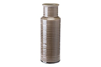 Grey Ribbed Bottle