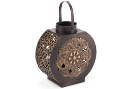 Small Black + Gold Lantern