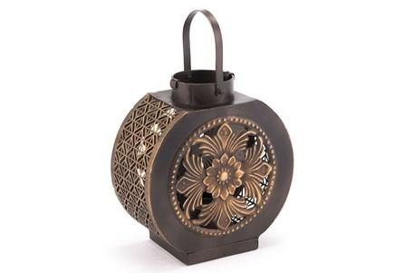 Large Black + Gold Lantern
