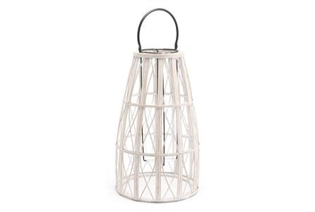 Outdoor Large White Web Lantern