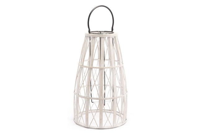 Outdoor Large White Web Lantern - 360