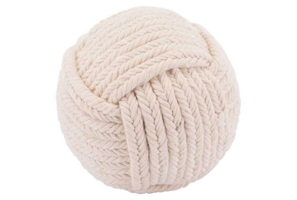 Knot Rope White Ball