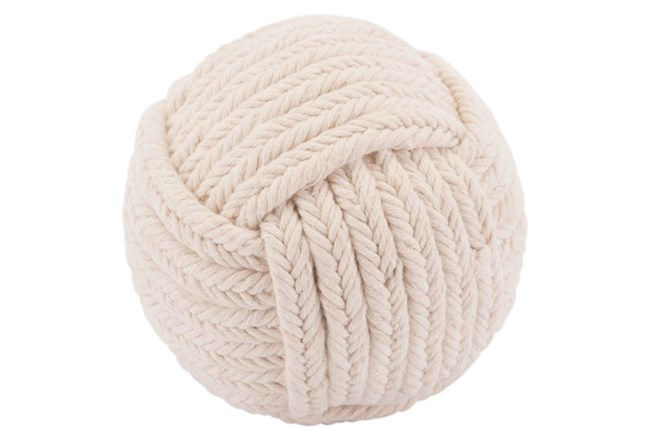 Knot Rope White Ball  - 360