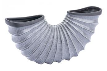 Large Grey Shell Bowl