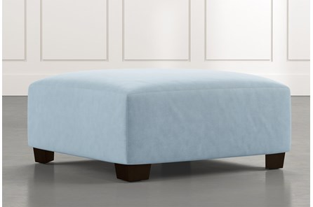 Marissa III Light Blue Cocktail Ottoman