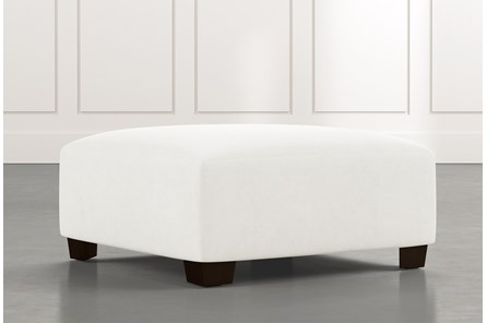 Marissa III White Cocktail Ottoman