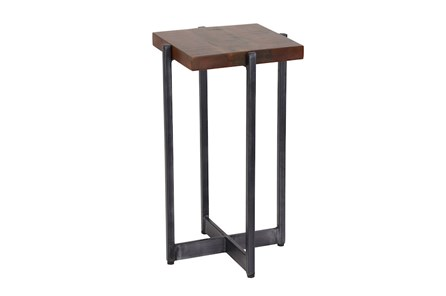 Metal and Wood Accent Table - Main