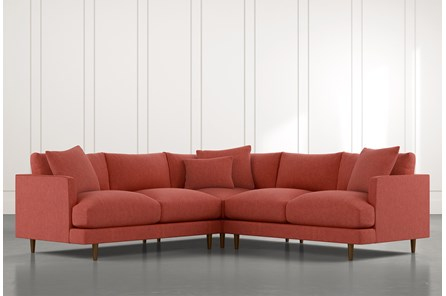 Adeline II Red 3 Piece Sectional