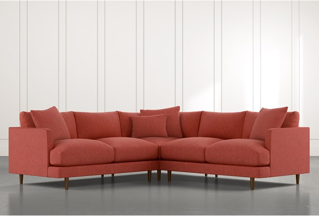 Adeline II Red 3 Piece Sectional - 360