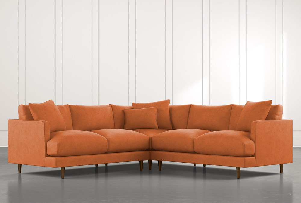 Adeline II Orange 3 Piece Sectional