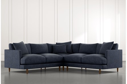 Adeline II Navy Blue 3 Piece Sectional