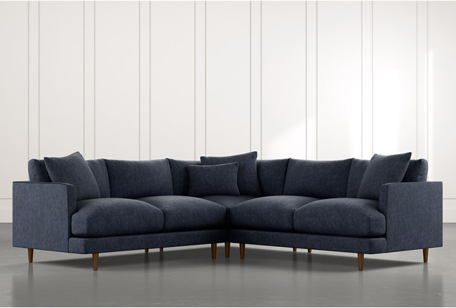 Adeline II Navy Blue 3 Piece Sectional - 360